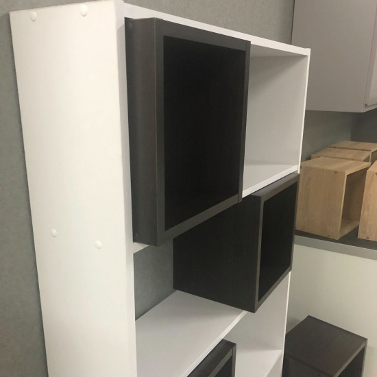 """Купить Стеллаж DiPortes Bt-235 """"Куб"""" 5 полок, Белый / Венге  (80/161/22) на Mebli.Sale Недорого."""