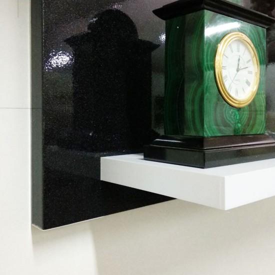 Купить Настенная полочка ex-005, Черный металлик (70/33/14) на Mebli.Sale Недорого.