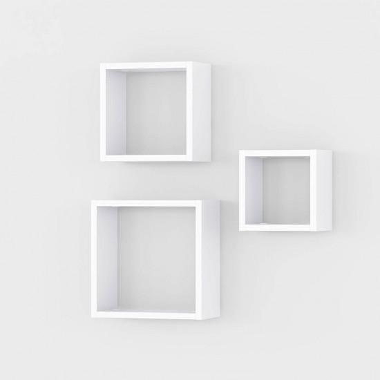 Купить Полка Аt-27  (комплект из 3-х полок), белые (20, 25, 30/20, 25, 30/14) на Mebli.Sale Недорого.