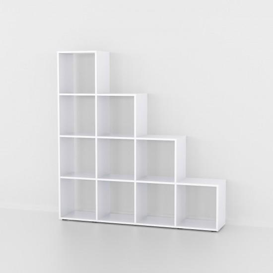 Купить Стеллаж-горка Аt-40, белая (138/143/29) на Mebli.Sale Недорого.