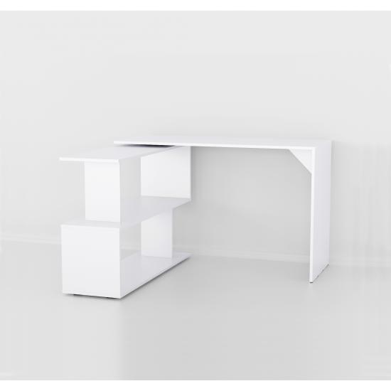 Купить Стол письменный поворотный Аt-41, белый (120/76,6/50) на Mebli.Sale Недорого.