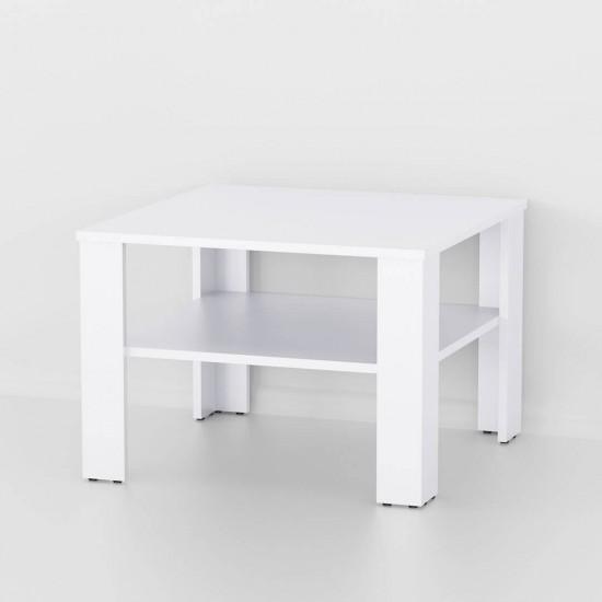 Купить Стол журнальный At-55 белый (60/42/60) на Mebli.Sale Недорого.
