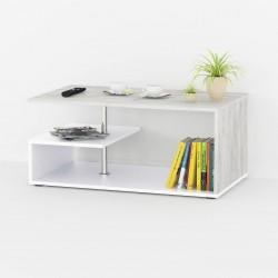 Столик журнальный Аt-69, бетон/белый
