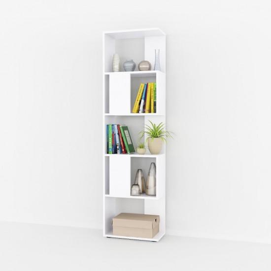 Купить Книжный стеллаж At-73, белый (45 /162/23) на Mebli.Sale Недорого.