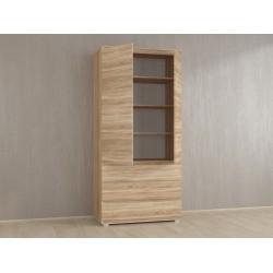 Шкаф для одежды Kb-1 с полками, Белый