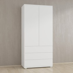Шкаф для одежды Kb-2 со штангой, Белый