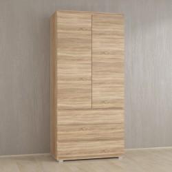Шкаф для одежды Kb-2 со штангой, Дуб Сонома