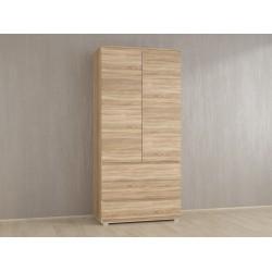 Шкаф для одежды Kb-1 с полками, Дуб сонома