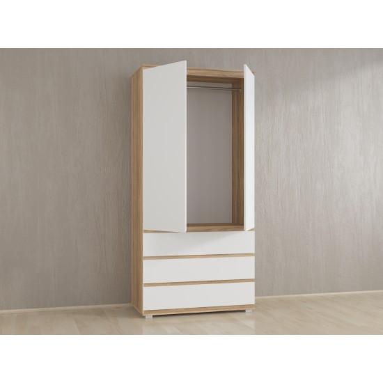 Купить Шкаф для одежды Kb-2 со штангой, Белый на Mebli.Sale Недорого.