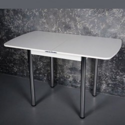 "Комплект стол Тавол ""Овале"" + 2 стула хром Белый"